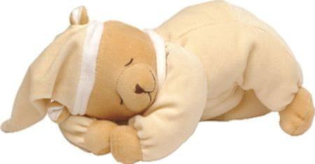 Babiage plišasti pripomoček za spanje DooDoo, speči medvedek, bež