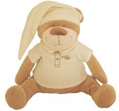 Babiage plišasti pripomoček za spanje DooDoo, medvedek, roza - Odprta embalaža