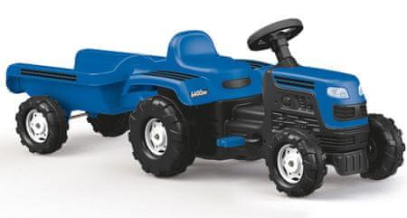 DOLU Pedállal hajtható traktor Ranchero utánfutóval - kék