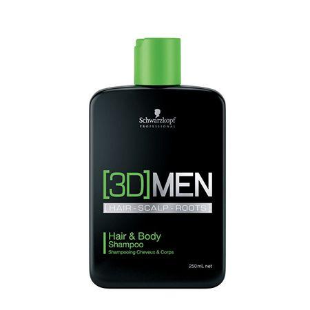 Schwarzkopf Prof. 3D sampon és tusfürdő férfiaknak (Hair & Body Shampoo) (mennyiség 250 ml)