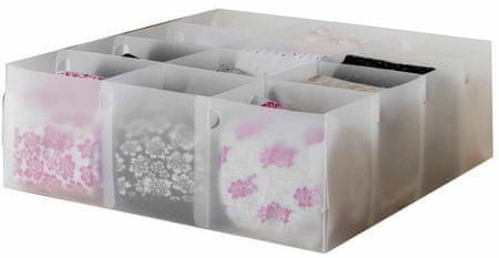 Compactor Optimo przezroczysty organizer do szuflady na bieliznę, 12 przegródek