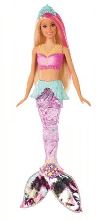 Mattel Barbie Svítící mořská panna s pohyblivým ocasem - běloška
