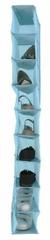 Compactor viseći organizator za odjeću Peva, 9 polica, svijetlo plava