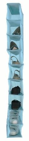 Compactor viseči organizator za oblačila Peva, 9 polic, svetlo moder