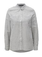 Dorothy Perkins bílo-šedá pruhovaná košile