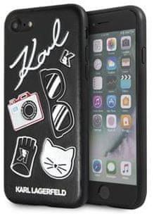 Karl Lagerfeld maska Pins Hard Case Black KLHCI8PIN za iPhone 7 / 8
