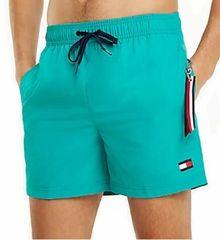 Tommy Hilfiger Plavkové kraťasy Slim Fit Medium Drawstring UM0UM01080 -326 Dynasty Green