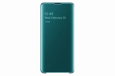 Samsung original torbica Clear View EF-ZG973CGE za Galaxy S10, zelena