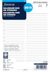 Náhradní náplň do diáře Filofax A5 kalendář - den na stranu česko - slovenský 2019