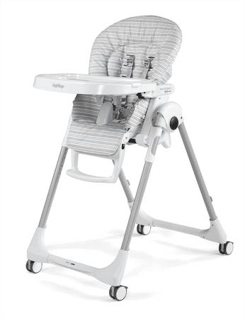 PEG PEREGO krzesełko do karmienia Prima Pappa Follow Me Linear Grey 2019