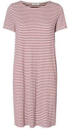 Pieces Női ruhaBillo SS Dress Noos Bright White/Malaga (méret XS)