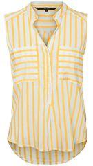 Vero Moda Dámska blúzka Erika S/L Stripe Shirt Color Snow White/Yarrow
