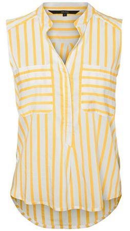 Vero Moda Női felsőErika S/L Stripe Shirt Color Snow White/Yarrow (méret XS)
