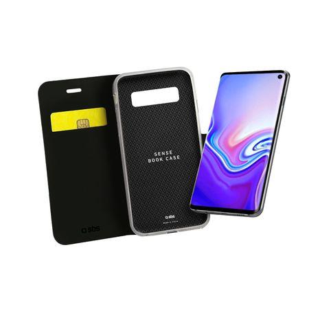 SBS torbica za Samsung Galaxy S10e, preklopna, črna