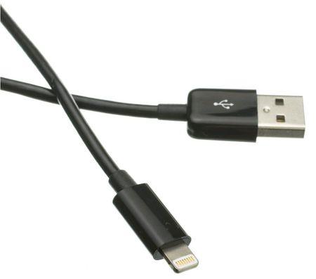 C-Tech kabel USB 2.0 Lightning (IP5 in višje) polnjenje in sinhronizacija, 2 m, CB-APL-20B, črn