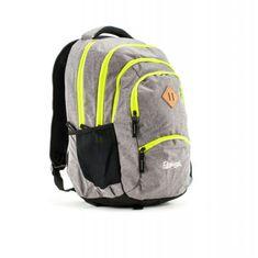 Rucksack ruksak Only Grand 35l,Grey Gray Fluo Color Zipper