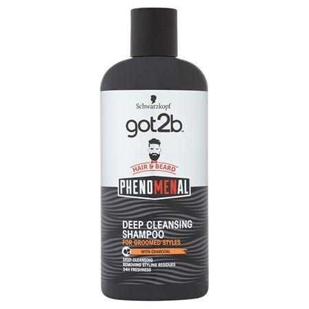 got2b Hloubkově čisticí šampon na vlasy a vousy PhenoMENal (Deep Cleansing Shampoo) (Objem 250 ml)
