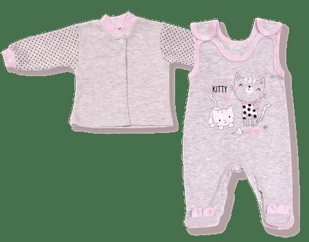 Lafel dievčenský dvojkomplet Kitty 56 sivá