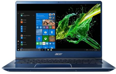 Acer prenosnik Swift 3 SF314-54-356P i3-8130U/4GB/SSD128GB/14FHD/W10S, moder (NX.GYGEX.010)