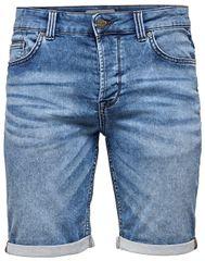 ONLY&SONS Pánské kraťasy Ply Sw Blue Shorts Pk 2019 Noos Blue Denim
