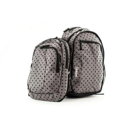 Rucksack ruksak Only Doubler 2in1, 25+10l, Grey Gray Dots