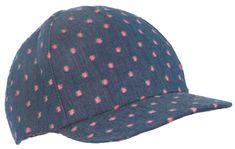 Pupill dekliška kapa s šiltom Dots