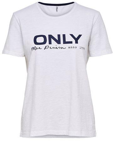 dd027690b7b2 ONLY Dámske tričko Logo Slub DNM Tee White (Veľkosť S)