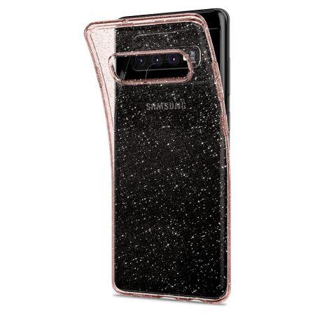 Spigen ovitek Liquid Crystal Glitter Rose za Samsung Galaxy S10 Plus