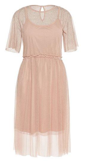 Vero Moda Dámske šaty Linna 2/4 Blk Dress Jrs Misty Rose (Veľkosť XS)
