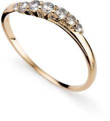 Oliver Weber Pozlačen srebrni prstan s kristali Petite 63227G srebro 925/1000