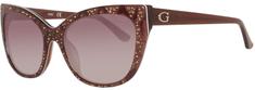 Guess okulary przeciwsłoneczne damskie brązowe