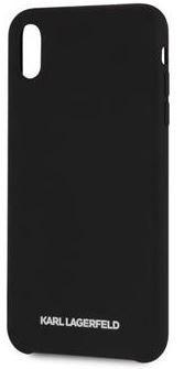 Karl Lagerfeld maska Silver Logo Silicone Case Black za iPhone X / XS, KLHCI65SLBKS