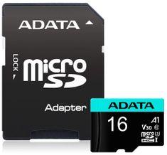 A-Data karta pamięci MicroSDHC 16GB UHS-I 95/30MB/s + adapter SD (AUSDH16GUI3V30S-RA1)