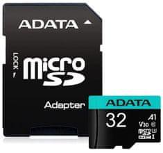 A-Data MicroSDHC Premier Pro 32GB + adaptér (AUSDH32GUI3V30SA1-RA1)