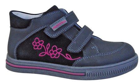 Protetika dievčenské členkové topánky Roka 36 čierna / sivá