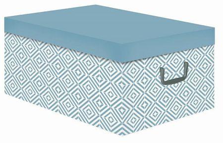 Compactor Nordic összecsukható tároló doboz - karton, rózsaszín (antik).