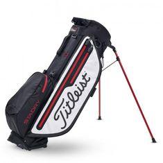 Titleist Players 4+ StaDry Stand Bag černá-bílá-červená