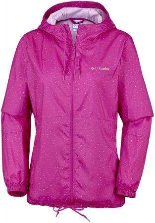 Columbia Ws Flash Forward Printed Haute Pink Dots L