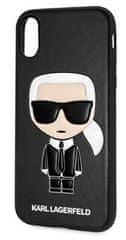 Karl Lagerfeld Ikonik TPU Case Black pre iPhone X / XS KLHCPXIKPUBK