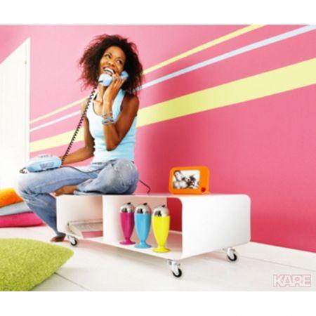 KARE Pojízdný regál Lounge M TV Mobil White