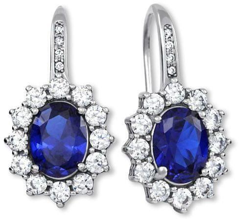 Brilio Silver Prekrásne náušnice princezny Kate Middleton 436 001 00478 04 striebro 925/1000