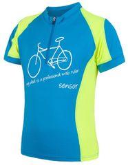 Sensor Dziecięca koszulka rowerowa Cyklo Entry Blue/Yellow