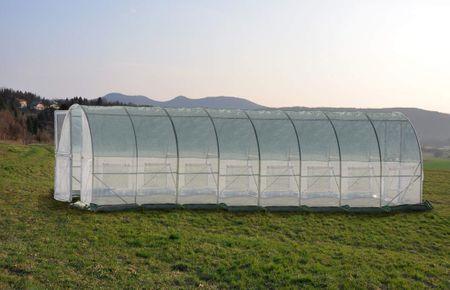 Greenhouse rastlinjak s kovinskimi vrati, 8x3x2,3m (9438)