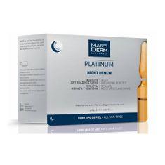 Ampułki do pielęgnacji skóry na noc z kwasem hialuronowym Platinum Night Renew 10 x 2 ml