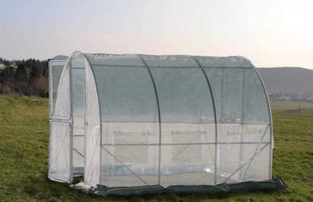 Greenhouse rastlinjak s kovinskimi vrati, 3x3x2,3m (9433)