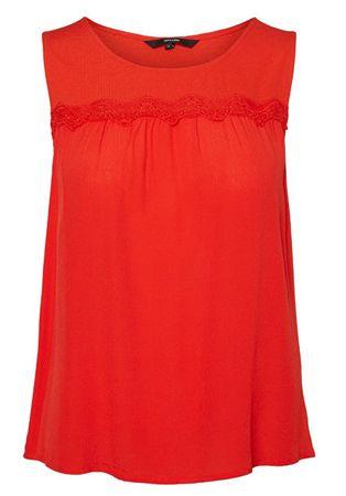 Vero Moda Női felsőAlexis SL Top Wvn Fiery Red (méret S)