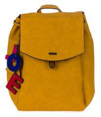 Tamaris Lorella női sárga hátizsák