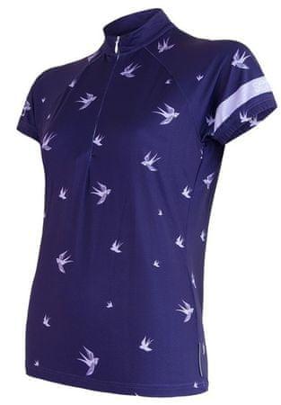 Sensor Damska koszulka rowerowa Swallow ciemnoniebieska S
