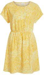 VILA Dámske šaty Laia S/S Dress Noos-Fav Nx Goldfinch