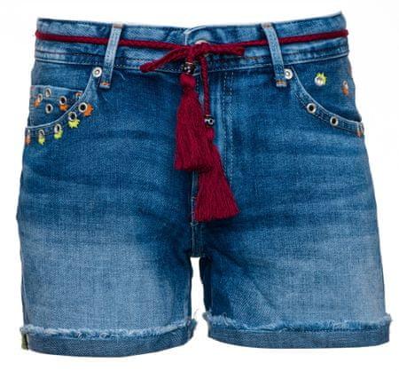 Pepe Jeans dámské kraťasy Thrasher Sparks 26 modrá